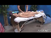 Hot eighteen year old girl gets screwed hard from behind by her massage therapist
