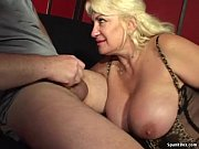 busty mom gives blowjob and smokes.