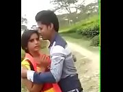 indian cute girl full forcing kiss outdoor.