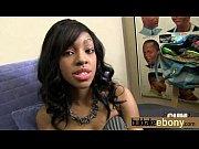 Ebony babe gets multiple white dicks 2