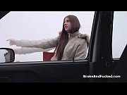 Gorgeous hitchikers blows my cock in the car