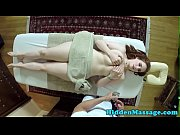 busty babe throatfucked by masseurs cock