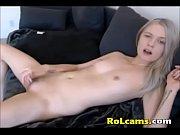 Sexy Horny Teen Masturbates Pussy Under The Panties