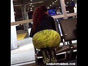 Candid - Redbone in Colorfull Leggings with Thick Booty