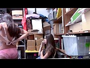 Sexy petite shoplifting teens got fucked in a threesome