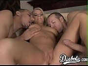 Bree Olson gets her ass stretched by huge cocks in threesome