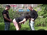 public sex threesome with a pregnant woman and.
