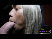 Young blonde Asian ladyboy blowjob and anal in chains