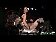 Mistress fucks slave&#039_s a-hole with huge toy on kinkycarmen.com