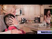 (Ariella Ferrera) Superb Busty Housewife Get Hard Bang On Cam movie-03