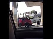 Sexy LATINA at gas station