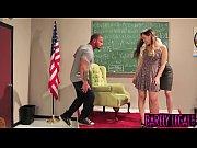 Teen schoolgirl Kay Monroe taught how to suck and fuck