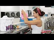 Big Booty Teen Pornstar Doing Laundry Gets Fucked