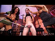 Jamie Valentine &amp_ Olivia Fox Enjoy Slave Milking Day