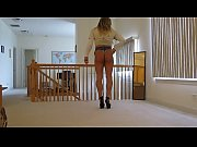 Tanned Blonde Crossdresser in Cheeky Short Shorts Part 18