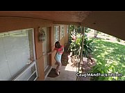 Busty teen intruder caught and fucked