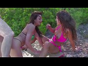 Guy Gets To Fuck Two Gorgeous Brunettes Outdoors