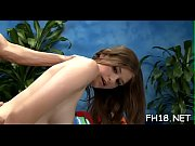 Slim teen gal gets mouth and pussy drilled well