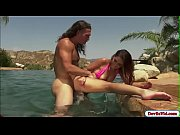Brooke gets her wet hairy pussy fucked