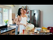 Cooking MILF Jasmine Jae bakes a cake while being fucked
