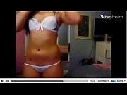 Sarah Strip white bikini Webcam
