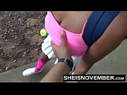 I Dont Give A Fuck My Big Tits Out On Tennis Court Giving Public POV Blowjob