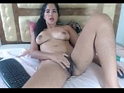 latin dark haired girl spreads her ash-colored hairy vagina   -tinycam.org