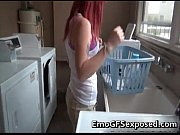 Melons red haired skank finger fucked