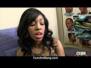 Real ebony babe getting hard core group making out 28