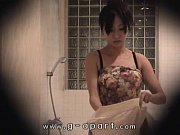 Voyeur of Japanese girl Mako higashio in bathroom