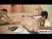 Hot babes doing yoga session while naked