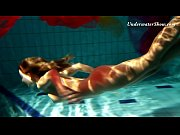 Edwiga teen Russian swims in clothes at night