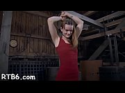 Pretty babe'_s enchanting teats receives painful torturing