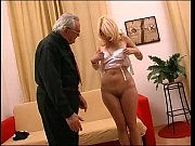 Threesome for a young blonde with glasses