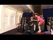 Cougar flight attendant rides passenger cock