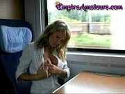 Hot German Cougar With Big Tits Gets Fucked On The Train &amp_ Her Tits Pasted In Cum