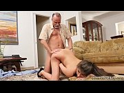 Girl licks old man and fucks him very duddy&#039_ partner&#039_s daughter first