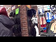 adorable czech girl gets tempted in the mall.