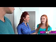 Redhead mother and daugther get cock together  1  002