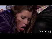 Hot elegant lesbian scream it out with a big toy on slit