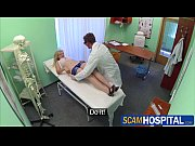 Busty blonde gets fucked by her doctor in the hot examining table