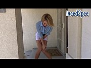 Sunny wetting her jeans and panties omorashi pee