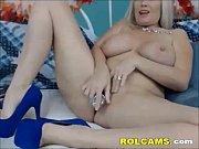 Big tit blonde mature masturbation