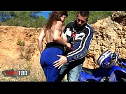 Kimy Blue and her Huge boobs fucked in the ass on a quad