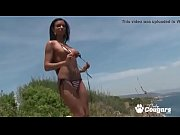 Italian Hottie Ashley Bulgari Takes Off Her Thong bikini