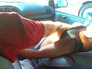 Jordan Faye lets a lucky trucker watch her cum twice!!!!!!