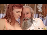 DADDY4K. Chick&#039_s shaved pussy is fingered by old man and son in turn