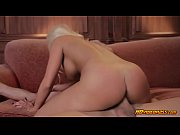 Beautiful blonde whore getting fucked in her shaved pussy