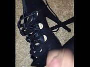 girlfriends shoes get fucked and cum,.