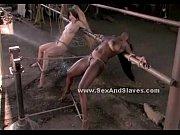 Bitch hanged upside down in fetish sex
